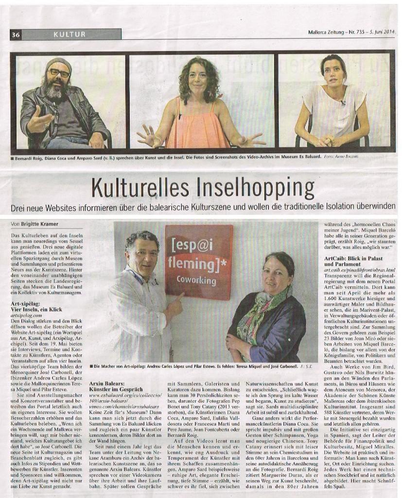 ArtXipelag al Mallorca Zeitung