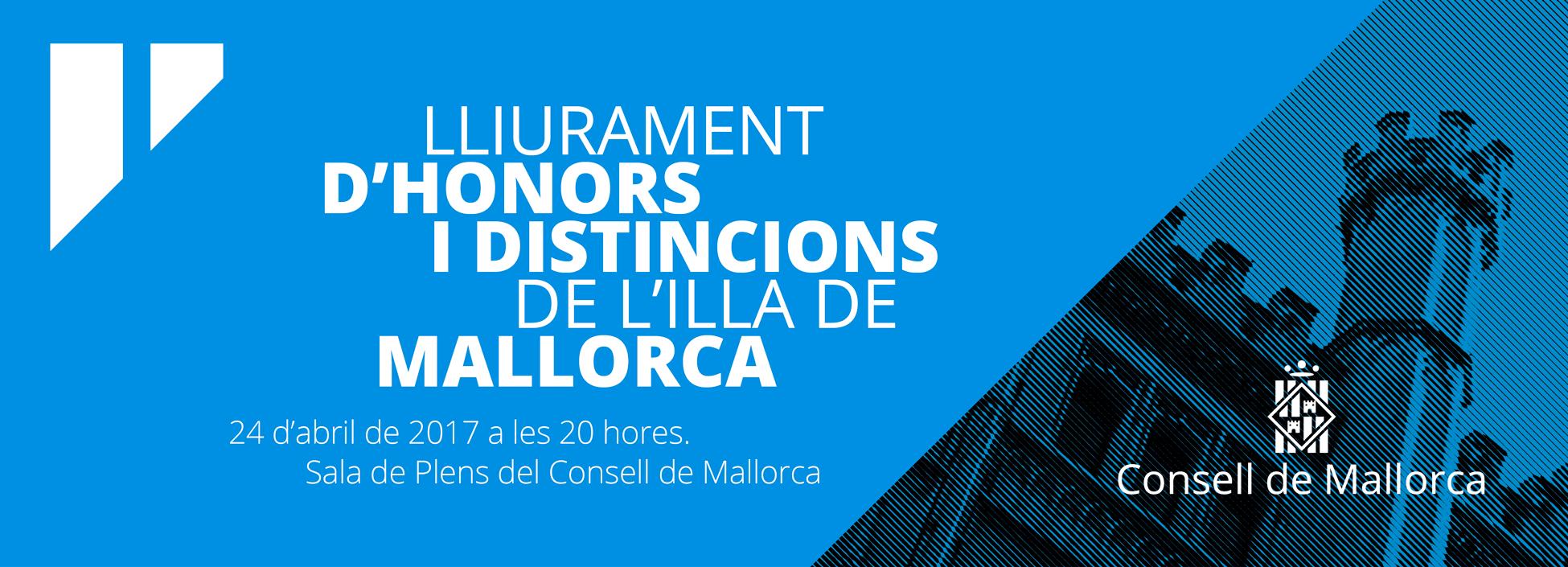 <p>Lliurament d&#8217;Honors i Distincions de l&#8217;Illa de Mallorca</p>