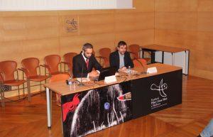 Llorenç Carrió, egidor de Cultura de Palma i Paco Copado presenten els acords del Patronat pel 2017