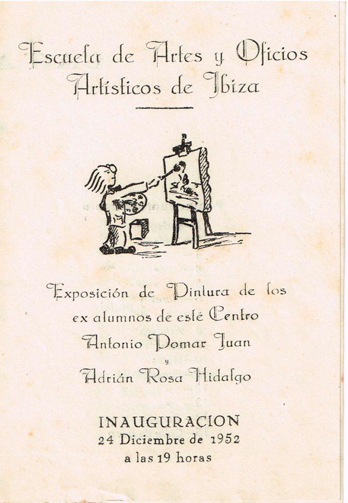 Catàleg exposició Pomar - Adrián Rosa 1952