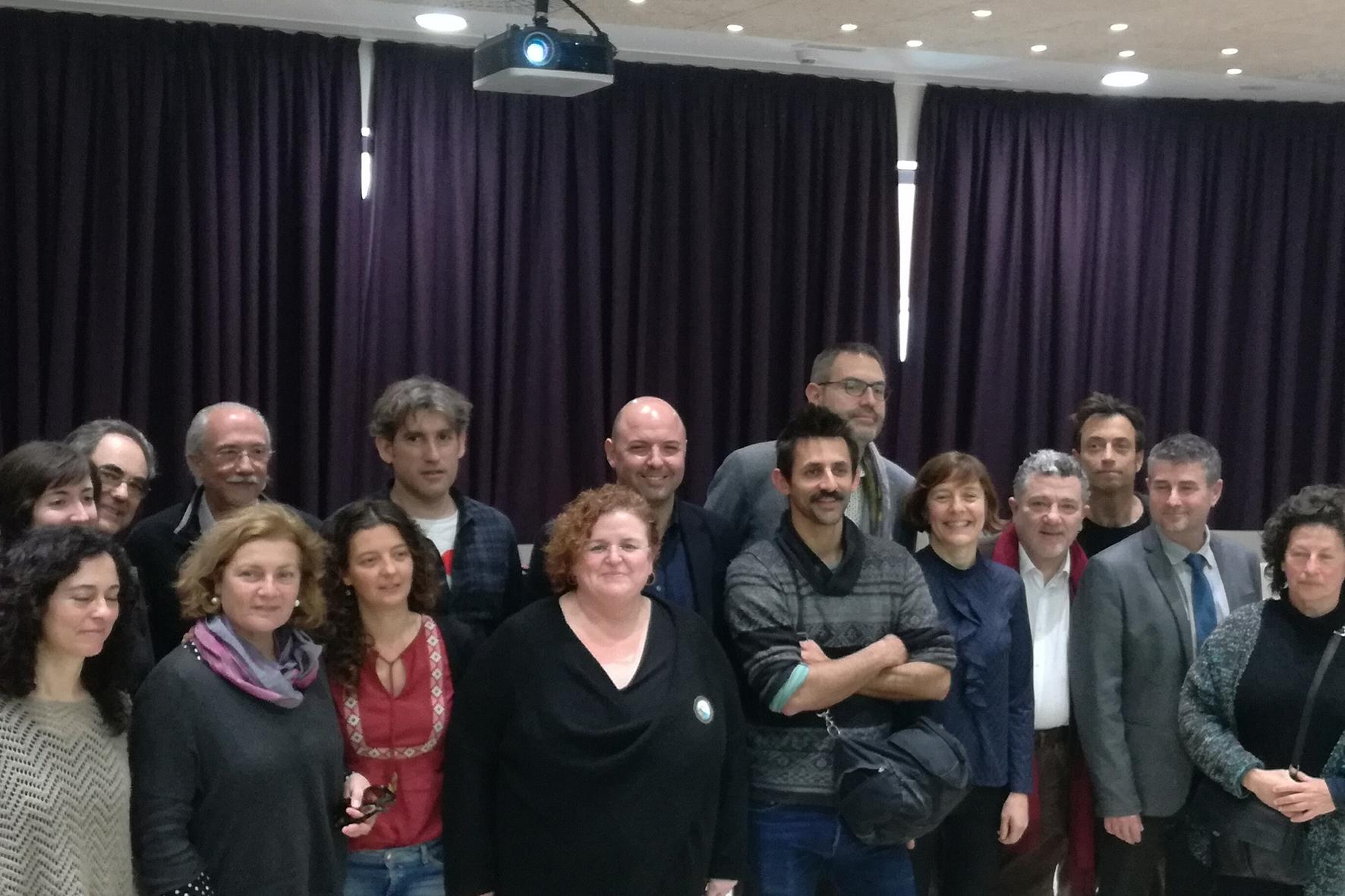 Grup assistents a la presentació de la Fira de Bolonya