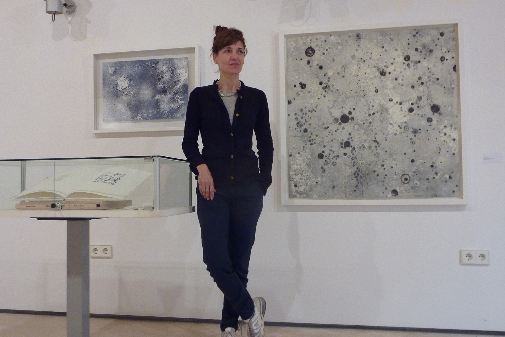 L'artista Mònica Fuster a Es Polvorí
