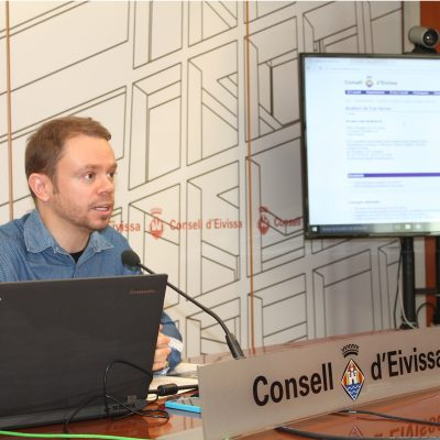 David Ribas presentant la nova web