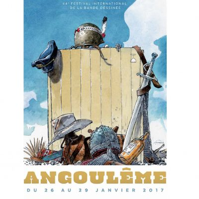 Cartell del 45è Festival International de la Bande Dessinée d'Angoulême.