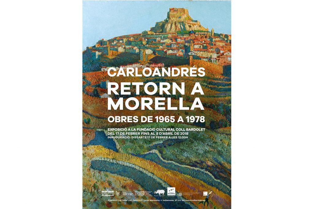 Cartell de l'exposició de Carloandrés sobre Morella